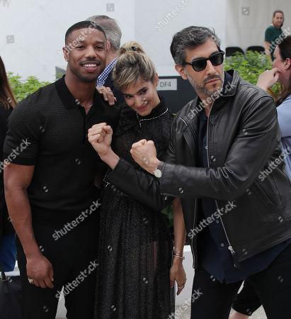 Ramin Bahrani, Michael B. Jordan and Sofia Boutella