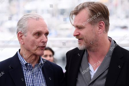 Keir Dullea and Christopher Nolan