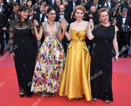 Didar Domehri, Golshifteh Farahani, Eva Husson and Emmanuelle Bercot