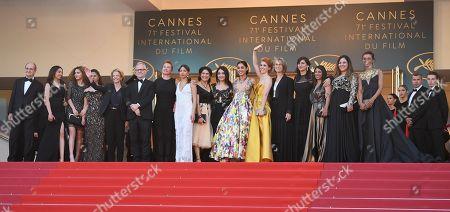 Emmanuelle Bercot, Eva Husson, Golshifteh Farahani, Thierry Fremaux, Francoise Nyssen and Didar Domehri