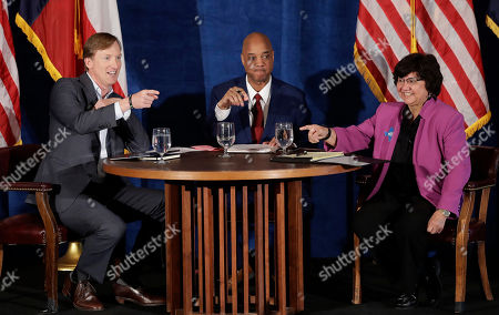 Lupe Valdez, Andrew White, Gromer Jeffers. Texas Democratic gubernatorial candidates Andrew White, left, and Lupe Valdez, right, take part in a debate, in Austin, Texas, ahead of the state's May 22 primary runoff election. Moderator Gromer Jeffers is center
