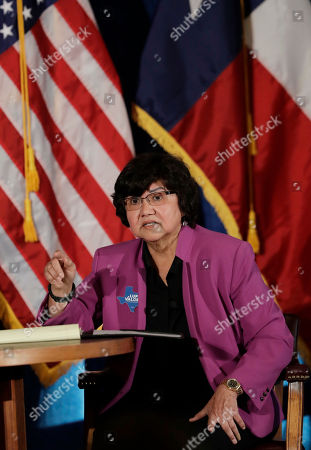 Texas Democratic gubernatorial candidate Lupe Valdez takes part in a debate with Andrew White, in Austin, Texas, ahead of the state's May 22 primary runoff election