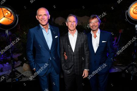 Joe Drake, Jon Feltheimer, Patrick Wachsberger. From left, Joe Drake, Co-Chairman of Lionsgate Motion Picture Group, Jon Feltheimer, Chief Executive Officer of Lionsgate, and Patrick Wachsberger, Co-Chairman of Lionsgate Motion Picture Group, at the Lionsgate Cannes Party at the Hotel du Cap-Eden-Roc, in Cannes, France