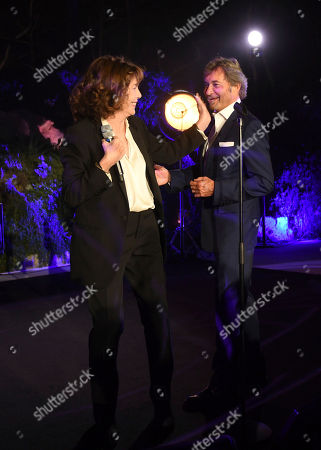 Jane Birkin, Patrick Wachsberger. Jane Birkin, left, and Patrick Wachsberger, Co-Chairman of Lionsgate Motion Picture Group, at the Lionsgate Cannes Party at the Hotel du Cap-Eden-Roc, in Cannes, France