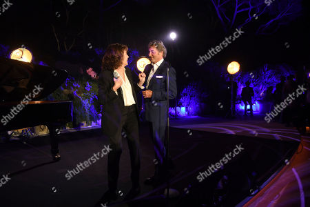 Stock Image of Jane Birkin, Patrick Wachsberger. Jane Birkin, left, and Patrick Wachsberger, Co-Chairman of Lionsgate Motion Picture Group, at the Lionsgate Cannes Party at the Hotel du Cap-Eden-Roc, in Cannes, France