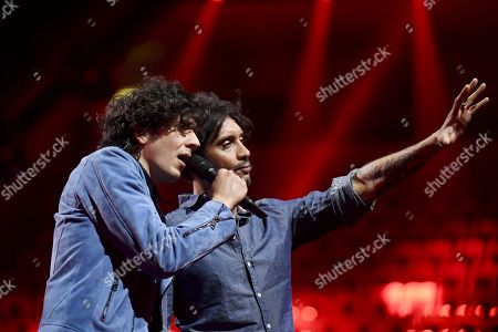 Ermal Meta and Fabrizio Moro of Italy