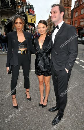 Ines Rau and Scarlett Byrne and Cooper Hefner