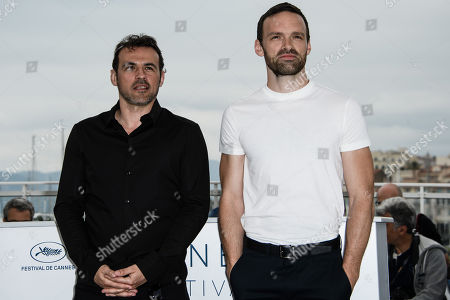 French actor Alban Lenoir (R) and French actor Stephane Rideau poses during the photocall for 'Angel Face (Gueule D'Ange)' at the 71st annual Cannes Film Festival, in Cannes, France, 12 May 2018. The movie is presented in the section Un Certain Regard of the festival which runs from 08 to 19 May.