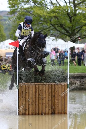 Stock Photo of Laura Collett riding Dacapo during the International Horse Trials at Chatsworth, Bakewell. Picture by George Franks