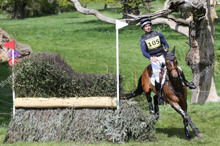 James Avery (NZL) on Zazu refusal at the jump during the International Horse Trials at Chatsworth, Bakewell. Picture by George Franks