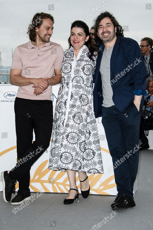 Actors Metin Akdulger (L) and Saad Lostan and director Gaya Jiji pose during the photocall for 'My Favorite Fabric (Mon Tissu Prefere)' at the 71st annual Cannes Film Festival, in Cannes, France, 12 May 2018. The movie is presented in the section Un Certain Regard of the festival which runs from 08 to 19 May.