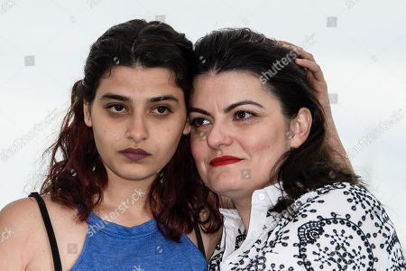 Syrian director Gaya Jiji (R) and actress Manal Issa pose during the photocall for 'My Favorite Fabric (Mon Tissu Prefere)' at the 71st annual Cannes Film Festival, in Cannes, France, 12 May 2018. The movie is presented in the section Un Certain Regard of the festival which runs from 08 to 19 May.
