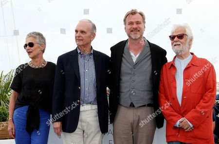 (L-R) Katharina Kubrick, Keir Dullea, Christopher Nolan and Jan Harlan pose during a photocall at the 71st annual Cannes Film Festival, in Cannes, France, 12 May 2018.