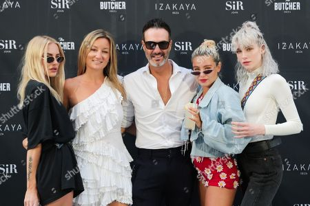 Fae Williams, Jess Woodley and Charlie Barker attending the re-opening of IZAKAYA Ibiza, the stunning restaurant at the SIR Joan hotel