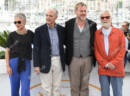Katharina Kubrick, Keir Dullea, Christopher Nolan, Jan Harlan. Katharina Kubrick, from left, actor Keir Dullea, director Christopher Nolan and Stanley Kubrick's producing partner and brother-in-law Jan Harlan pose for photographers during a photo call for Rendezvous with Christopher Nolan at the 71st international film festival, Cannes, southern France