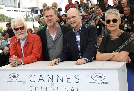 Jan Harlan, Christopher Nolan, Keir Dullea, Katharina Kubrick. Stanley Kubrick's producing partner and brother-in-law Jan Harlan, from left, director Christopher Nolan, actor Keir Dullea and Katharina Kubrick pose for photographers during a photo call for Rendezvous with Christopher Nolan at the 71st international film festival, Cannes, southern France