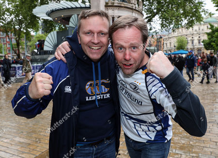 Leinster vs Racing 92. Leinster fans Tony Buckley and Michael Madden from Kildare and Dublin