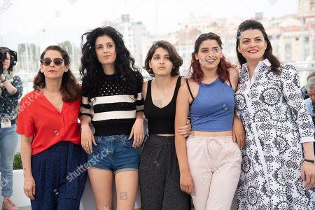 Actress Souraya Baghdadi, actor Metin Akdulger, actress Mariah Tannoury, actress Nathalie Issa, actress Manal Issa and director Gaya Jiji