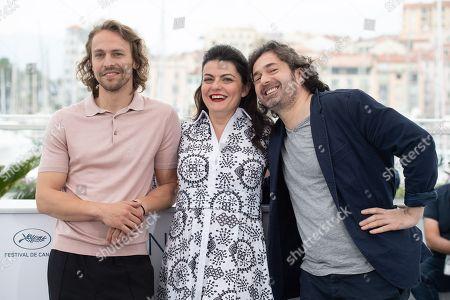 Metin Akdulger, director Gaya Jiji (C) and Saad Lostan