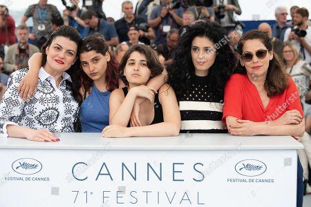 Director Gaya Jiji and actresses Manal Issa, Nathalie Issa, Mariah Tannoury and Souraya Baghdadi