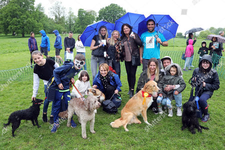 Judges including Anna Webb with the winners of the Best Child Handler category at the All Dogs Matter Great Hampstead Bark Off, Hampstead Heat, London. All Dogs Matter is a charity dedicated to helping and re-homing dogs see www.alldogsmatter.co.uk for more information.