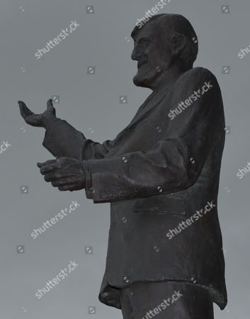 The Sir Jimmy Hill statue outside of The Ricoh Arena