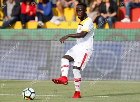 Benevento Calcio's Bacary Sagna in action during the Italian Serie A soccer match between Benevento Calcio and Genoa CFC at Ciro Vigorito stadium in Benevento, Italy, 12 May 2018.
