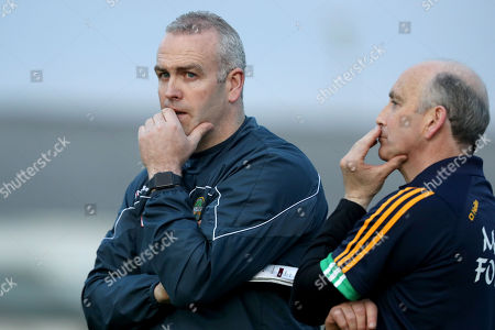 Offaly vs Galway. Offaly's manager Kevin Martin dejected at the end of the game