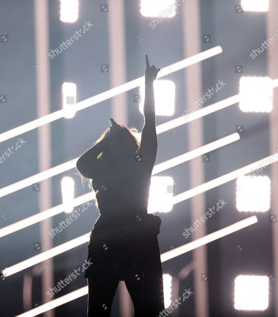 Jessica Mauboy from Australia performs the song 'We Got Love' in Lisbon, Portugal, during the Eurovision Song Contest grand final