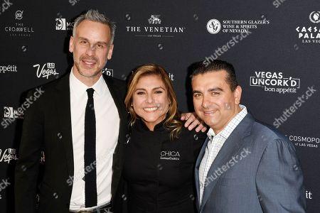 Adam Rapoport, Lorena Garcia and Buddy Valastro