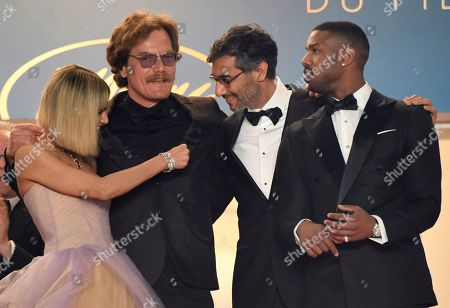 Sofia Boutella, Michael Shannon, Ramin Bahrani, Michael B. Jordan. Actress Sofia Boutella, from left, actor Michael Shannon, director Ramin Bahrani and actor Michael B. Jordan pose for photographers upon arrival at the premiere of the film 'Fahrenheit 451' at the 71st international film festival, Cannes, southern France