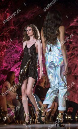 Models present creations of Spanish designer Custo Dalmau at Lanzarote Fashion Weekend in Lanzarote, Canary Islands, 12 May 2018.