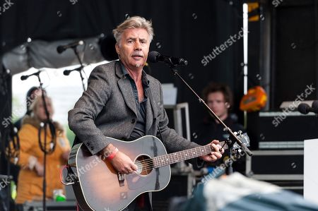 Former guitarists of punk rock band Sex Pistols Glen Matlock performs during Trades Union Congress (TUC) 'A New Deal for Working People' rally in Hyde Park.