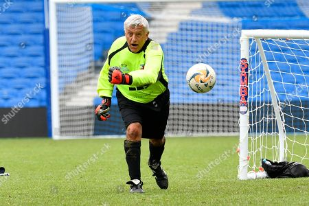 John Sykes of England over 60's during the world's first Walking Football International match