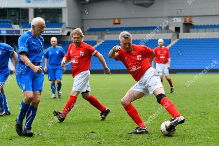 Alan Davies of England over 60's during the world's first Walking Football International match
