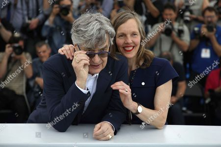 Wim Wenders, Donata Wenders. Director Wim Wenders, left, and his wife Donata Wenders pose for photographers during a photo call for the film 'Pope Francis: A Man of His Word' at the 71st international film festival, Cannes, southern France