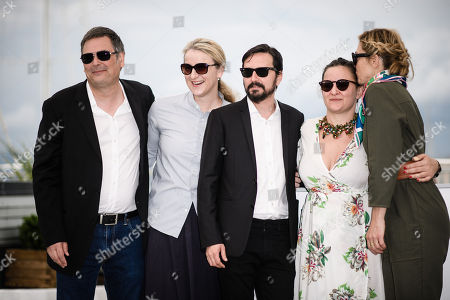 Director Alejandro Fadel (C) poses with producers Julie Gayet (R), Agustina Llambi-Campbell (2-R), Nadia Turincev (4-R) and Jean-Raymond Garcia (L) pose during the photocall for 'Murder me, Moster (Muere, Monstruo, Muere)' at the 71st annual Cannes Film Festival, in Cannes, France, 13 May 2018. The movie is presented in the section Un Certain Regard of the festival which runs from 08 to 19 May.