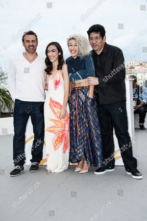(L-R) French actor Stephane Rideau, Argentinian actress Tania Casciani, Argentinian actress Romina Iniesta and Argentinian actor Victor Lopez pose during the photocall for 'Murder me, Moster (Muere, Monstruo, Muere)' at the 71st annual Cannes Film Festival, in Cannes, France, 13 May 2018. The movie is presented in the section Un Certain Regard of the festival which runs from 08 to 19 May.