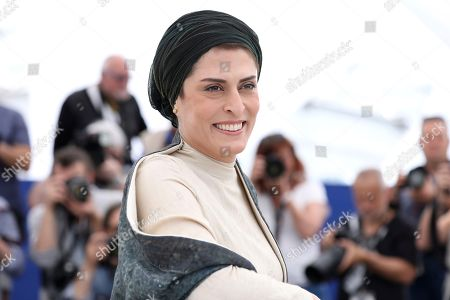 Actress Behnaz Jafari poses for photographers during a photo call for the film '3 Faces' at the 71st international film festival, Cannes, southern France