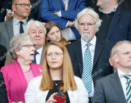 Comedian Billy Connolly in the directors box.