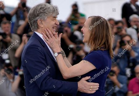 German director Wim Wenders and his wife Donata Wenders pose during the photocall for 'Pope Francis - A Man of his Word' at the 71st annual Cannes Film Festival, in Cannes, France, 13 May 2018. The movie is presented in the section Special Screenings of the festival which runs from 08 to 19 May.