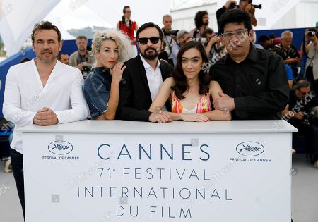 (L-R) French actor Stephane Rideau, Argentinian actress Romina Iniesta, Argentinian director Alejandro Fadel, Argentinian actress Tania Casciani and Argentinian actor Victor Lopez pose during the photocall for 'Murder me, Moster (Muere, Monstruo, Muere)' at the 71st annual Cannes Film Festival, in Cannes, France, 13 May 2018. The movie is presented in the section Un Certain Regard of the festival which runs from 08 to 19 May.