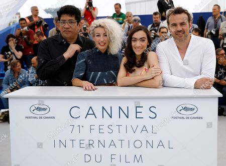 French actor Stephane Rideau, Argentinian actress Romina Iniesta, Argentinian actress Tania Casciani and Argentinian actor Victor Lopez pose during the photocall for 'Murder me, Moster (Muere, Monstruo, Muere)' at the 71st annual Cannes Film Festival, in Cannes, France, 13 May 2018. The movie is presented in the section Un Certain Regard of the festival which runs from 08 to 19 May.