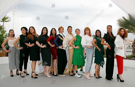 French actress Emmanuelle Bercot, French director Eva Husson, Iranian actress Golshifteh Farahani producer Didar Domehri and other cast members pose during the photocall for 'Girls of the Sun (Les Filles du Soleil)' at the 71st annual Cannes Film Festival, in Cannes, France, 13 May 2018. The movie is presented in the Official Competition of the festival which runs from 08 to 19 May.