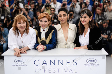(L-R) French actress Emmanuelle Bercot, French director Eva Husson, Iranian actress Golshifteh Farahani and producer Didar Domehri pose during the photocall for 'Girls of the Sun (Les Filles du Soleil)' at the 71st annual Cannes Film Festival, in Cannes, France, 13 May 2018. The movie is presented in the Official Competition of the festival which runs from 08 to 19 May.