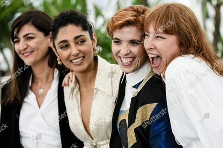 (R-L) French actress Emmanuelle Bercot, French director Eva Husson, Iranian actress Golshifteh Farahani and producer Didar Domehri pose during the photocall for 'Girls of the Sun (Les Filles du Soleil)' at the 71st annual Cannes Film Festival, in Cannes, France, 13 May 2018. The movie is presented in the Official Competition of the festival which runs from 08 to 19 May.