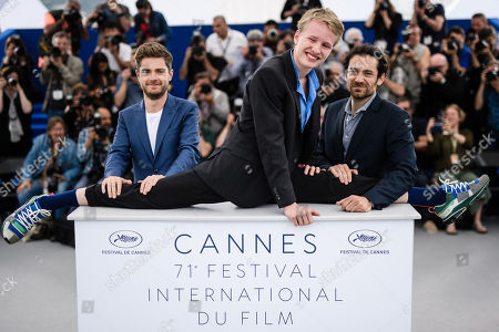 (L-R) Belgian director Lukas Dhont, Belgian actor Victor Polster and  Belgian actor Arieh Worthalter pose during the photocall for 'Girl' at the 71st annual Cannes Film Festival, in Cannes, France, 13 May 2018. The movie is presented in the section Un Certain Regard of the festival which runs from 08 to 19 May.