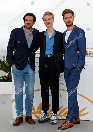 Belgian actor Victor Polster (C), Belgian director Lukas Dhont (R) and Belgian actor Arieh Worthalter pose during the photocall for 'Girl' at the 71st annual Cannes Film Festival, in Cannes, France, 13 May 2018. The movie is presented in the section Un Certain Regard of the festival which runs from 08 to 19 May.