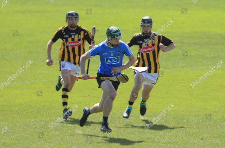 Dublin vs Kilkenny. Dublin's Donal Leavy with Cian Kenny and Conor Kelly of Kilkenny