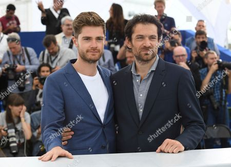 Director Lukas Dhont, left, and actor Arieh Worthalter pose for photographers during a photo call for the film 'Girl' at the 71st international film festival, Cannes, southern France